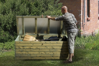 Gartentruhe / Gartenbox / Terrassentruhe 360 Weka 19 mm kdi 180x70cm Bild 1