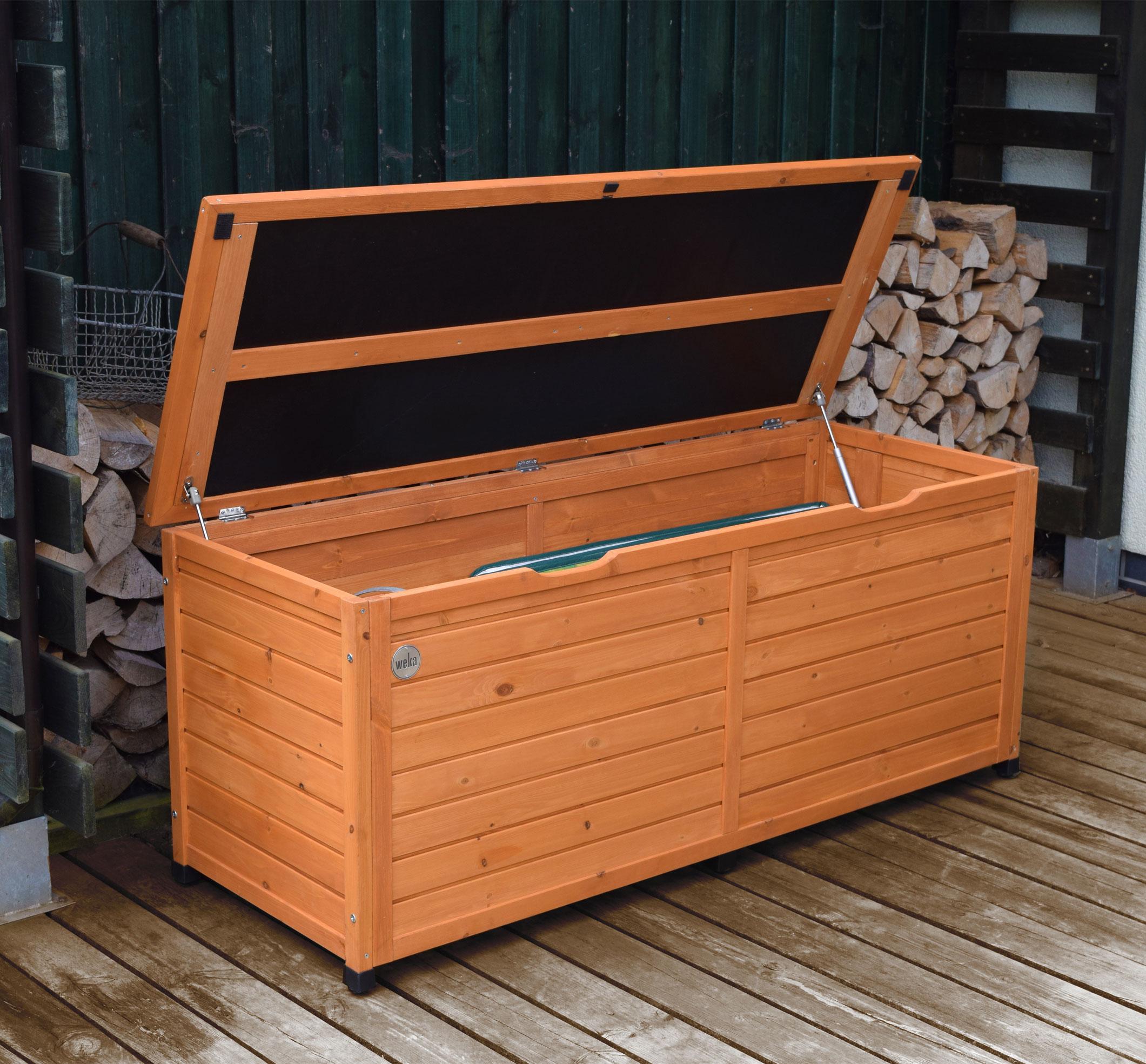 Gartentruhe / Gartenbox / Terrassentruhe Weka Fichte 150x56cm Bild 1