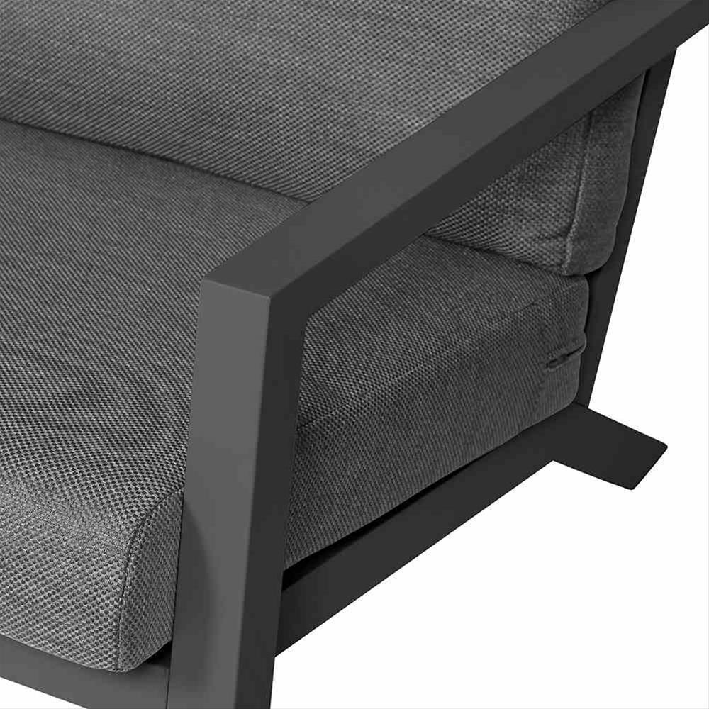Aluminium Lounge Sofa 3-Sitzer Siena Garden Belia anthrazit/grau Bild 2