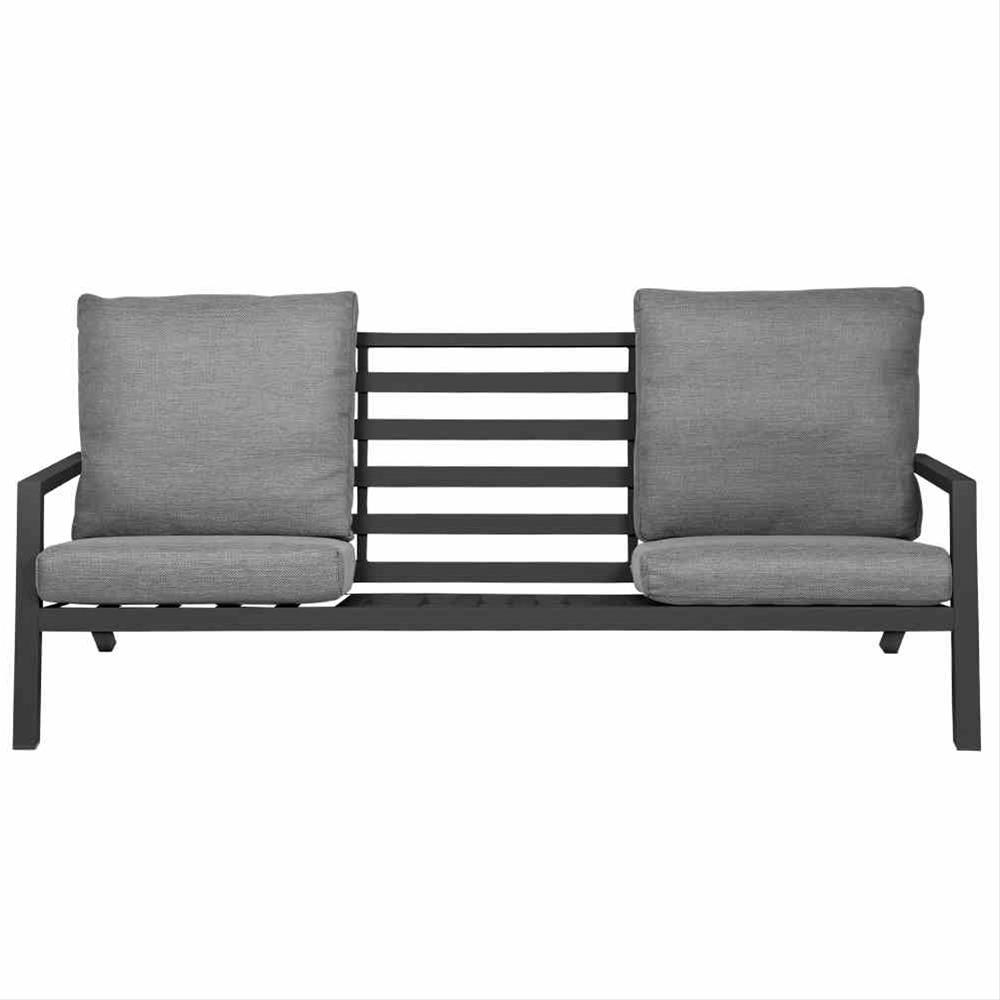Aluminium Lounge Sofa 3-Sitzer Siena Garden Belia anthrazit/grau Bild 5