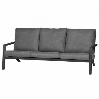 Aluminium Lounge Sofa 3-Sitzer Siena Garden Belia anthrazit/grau Bild 1