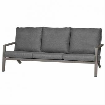 Aluminium Lounge Sofa 3-Sitzer Siena Garden Belia silber/grau Bild 1