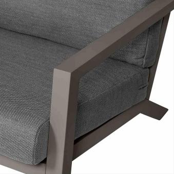Aluminium Lounge Sofa 3-Sitzer Siena Garden Belia silber/grau Bild 2