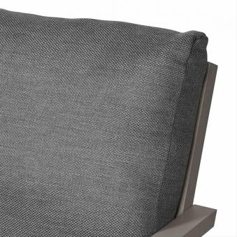 Aluminium Lounge Sofa 3-Sitzer Siena Garden Belia silber/grau Bild 3