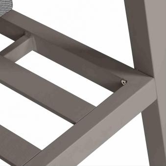 Aluminium Lounge Sofa 3-Sitzer Siena Garden Belia silber/grau Bild 4