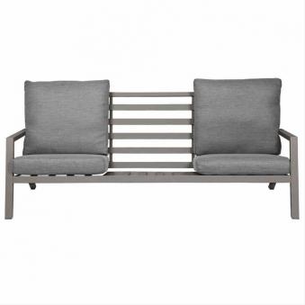 Aluminium Lounge Sofa 3-Sitzer Siena Garden Belia silber/grau Bild 5