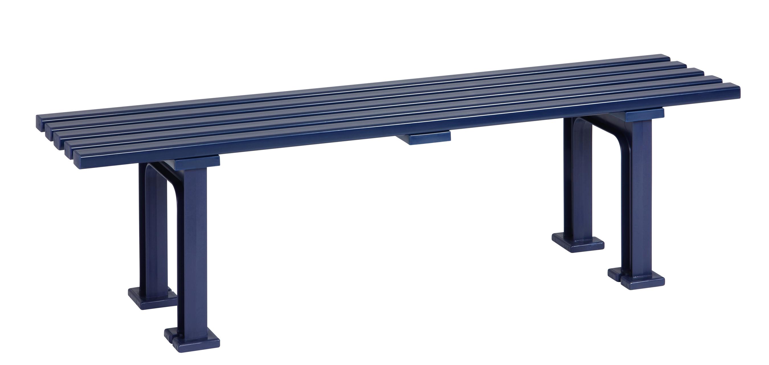 Blome Gartenbank / 3-Sitzer Bank Mono I Kunststoff blau 150cm Bild 1