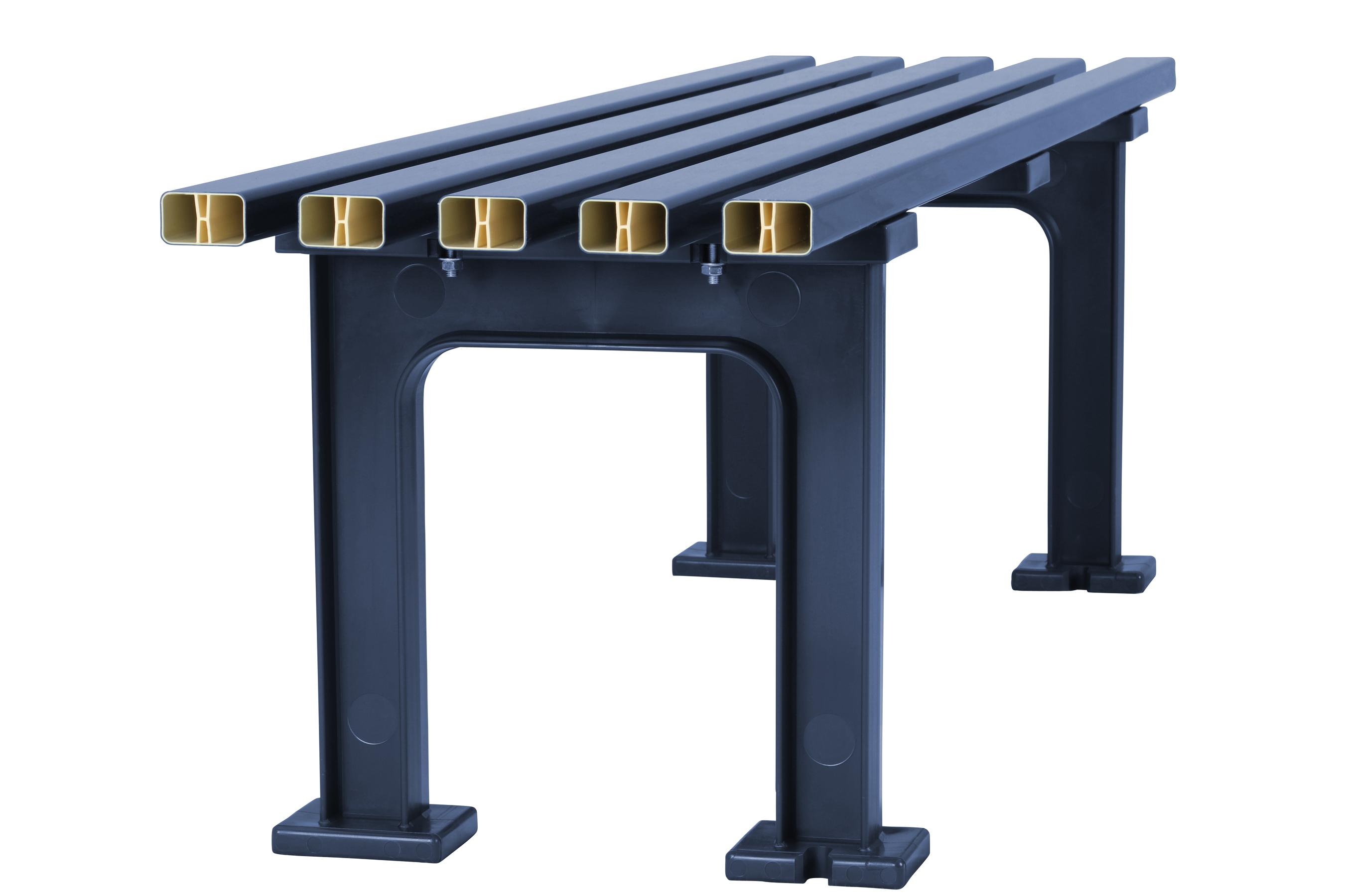Blome Gartenbank / 3-Sitzer Bank Mono I Kunststoff blau 150cm Bild 4