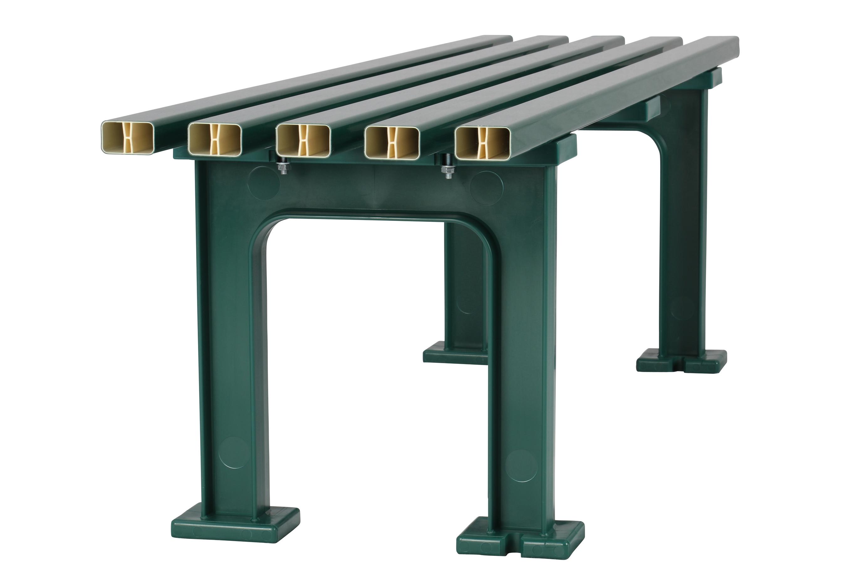 Blome Gartenbank / 3-Sitzer Bank Mono I Kunststoff grün 150cm Bild 4