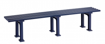 Blome Gartenbank / 4-Sitzer Bank Mono II Kunststoff blau 200cm Bild 1