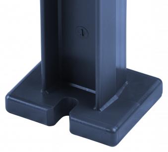 Blome Gartenbank / 4-Sitzer Bank Mono II Kunststoff blau 200cm Bild 2