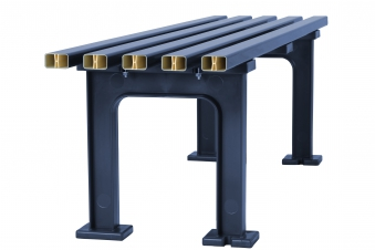 Blome Gartenbank / 4-Sitzer Bank Mono II Kunststoff blau 200cm Bild 4