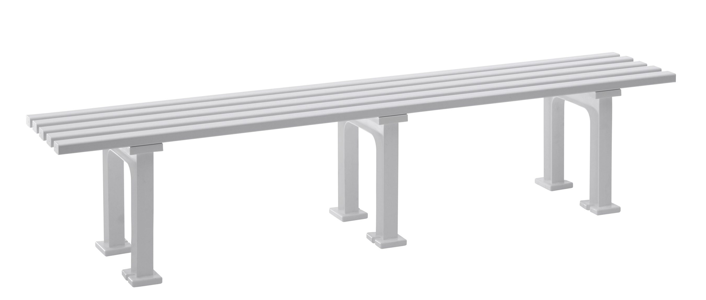 Blome Gartenbank / 4-Sitzer Bank Mono II Kunststoff weiß 200cm Bild 1
