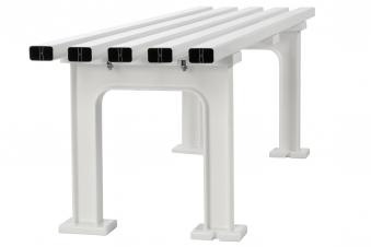 Blome Gartenbank / 4-Sitzer Bank Mono II Kunststoff weiß 200cm Bild 4