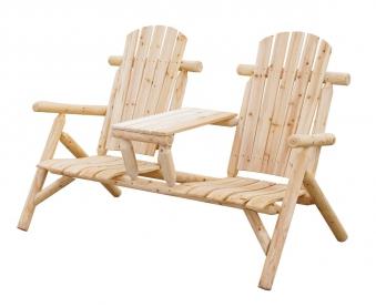 Gartenbank / 2-Sitzer Bank mit Tisch Bellavista Timber Nadelholz natur Bild 1
