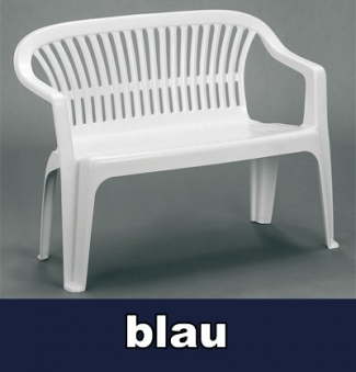 Gartenbank 2 Sitzer Diva dunkelblau Kunststoff stapelbar Bild 1