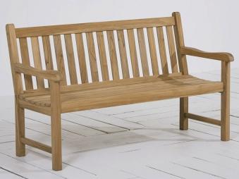 Gartenbank / 2-Sitzer Moretti Best Teak grey-wash 150cm Bild 1