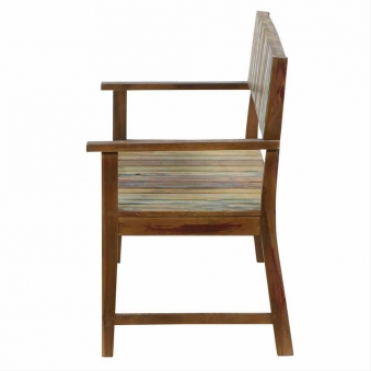 Gartenbank 2-Sitzer Siena Garden Palu Teak recycled boatlook Bild 3