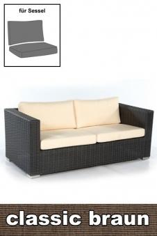 Sonnenpartner Auflage für Gartenbank / Sofa Residence 2Sitz. braun