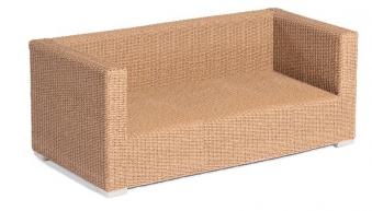 Gartenbank / 2-Sitzer Sofa Korbmöbel Residence Hyazinthoptik Bild 1