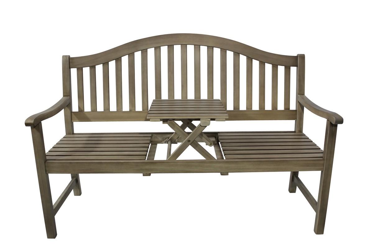 gartenbank 2 sitzer stockholm gardissimo akazie grey. Black Bedroom Furniture Sets. Home Design Ideas
