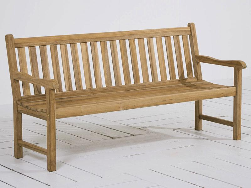 gartenbank 3 sitzer moretti teak grey wash bei. Black Bedroom Furniture Sets. Home Design Ideas