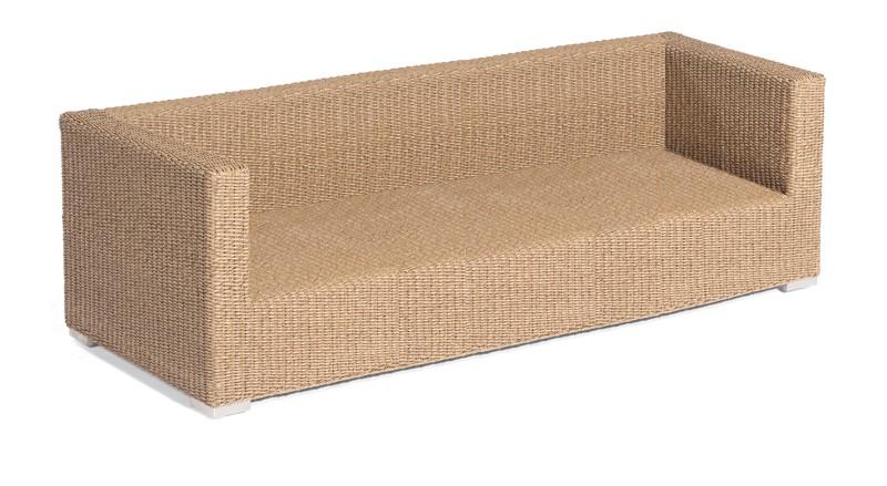 Gartenbank / 3-Sitzer Sofa Korbmöbel Residence Hyazinthoptik Bild 1