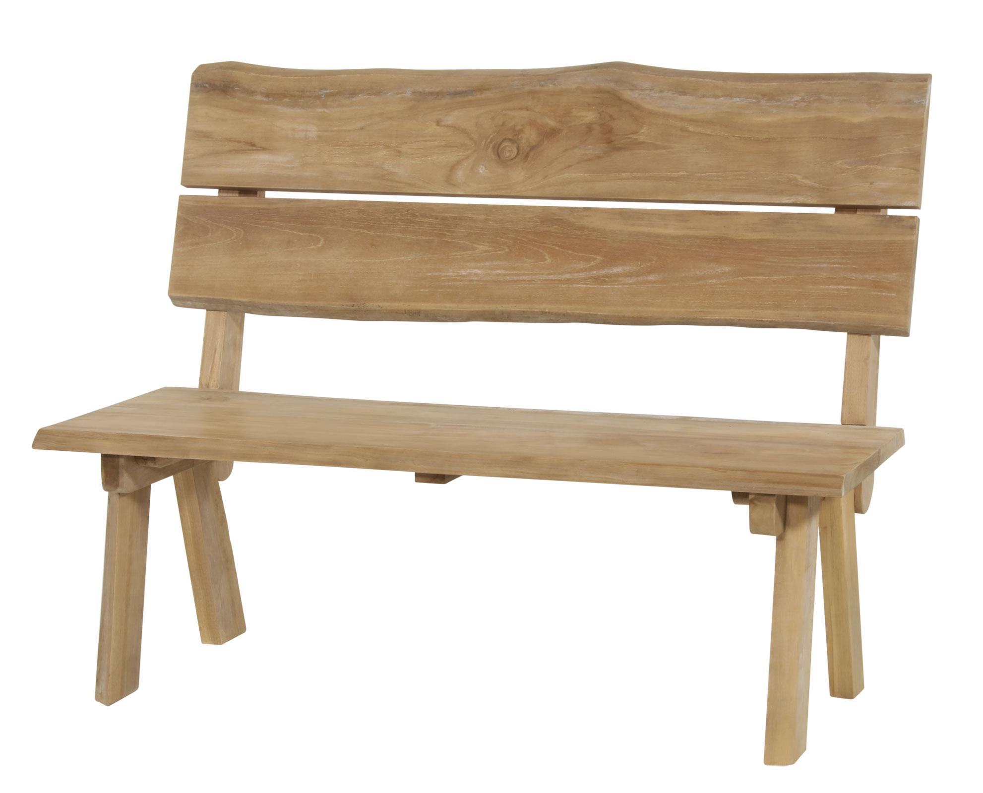 Gartenbank Baumstamm Lesli  Living 2-Sitzer Teakholz 130cm Bild 1