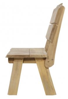 Gartenbank Baumstamm Lesli  Living 2-Sitzer Teakholz 130cm Bild 3