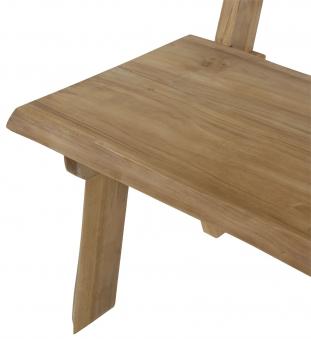 Gartenbank Baumstamm Lesli  Living 2-Sitzer Teakholz 130cm Bild 5