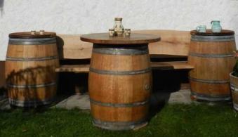 Gartenbank / Fässersitzbank Achleitner aus Eichenholz Länge 170cm Bild 2