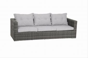 Gartenbank / Gartensofa 3-Sitzer acamp Sicilia Polyrattan grau Bild 1