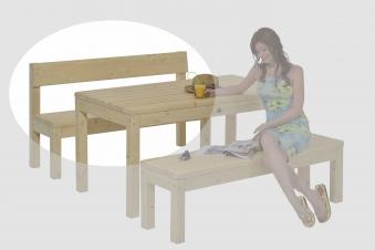 gartenbank graz mit lehne natur lackiert 192cm bei. Black Bedroom Furniture Sets. Home Design Ideas