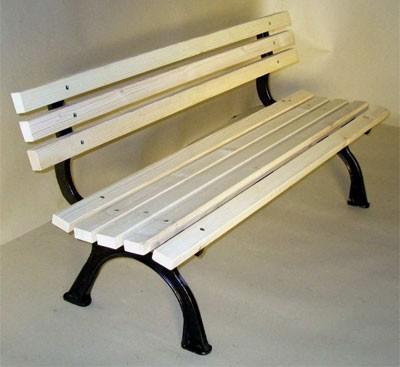 gartenbank parkbank 3 sitzer riva gusseisen fichte. Black Bedroom Furniture Sets. Home Design Ideas