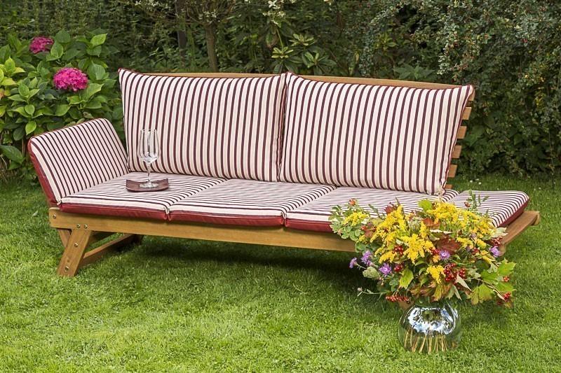 Gartenbank / Sofa / Liegenbank Cancun Akazienholz mit Auflage Bild 3