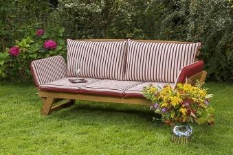 Gartenbank / Sofa / Liegenbank Cancun Akazienholz mit Auflage Bild 2