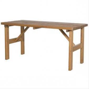 Gartentisch / Biertisch Tessin 150x72cm Massivholz braun