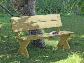 Gartenbank Toskana Holz massiv 150x64x84cm Bild 1