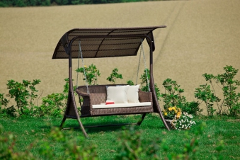 hollywoodschaukel gartenschaukel 2 sitzer polyrattan. Black Bedroom Furniture Sets. Home Design Ideas