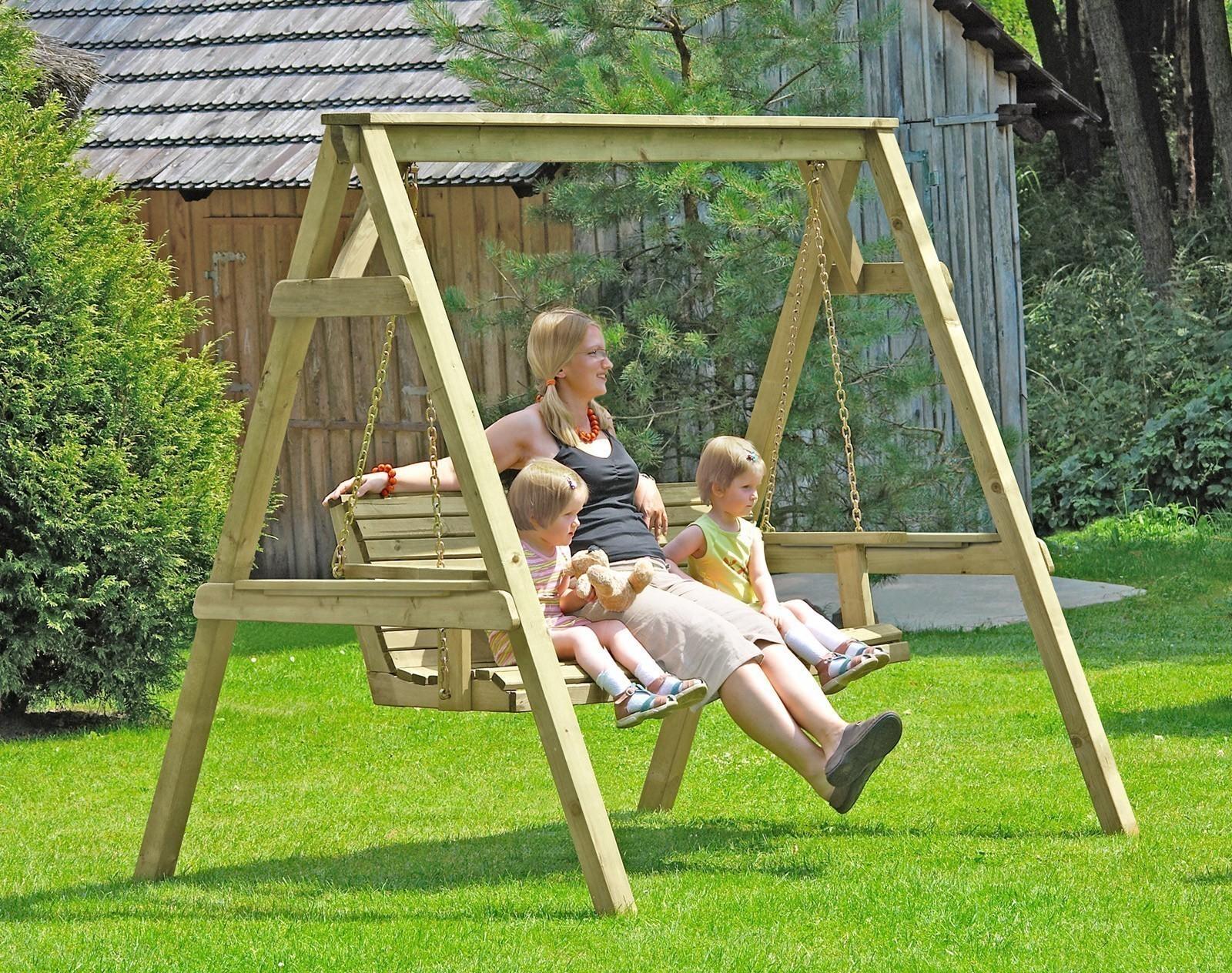 Hollywoodschaukel / Gartenschaukel Holz 190x164x198 cm ...  Hollywoodschauk...