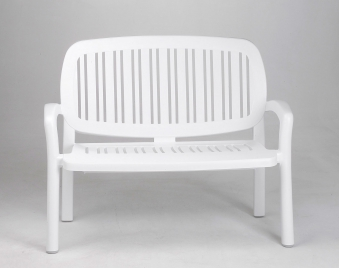 gartenbank 2 sitzer nardi lipari wei kunststoff stapelbar bei. Black Bedroom Furniture Sets. Home Design Ideas