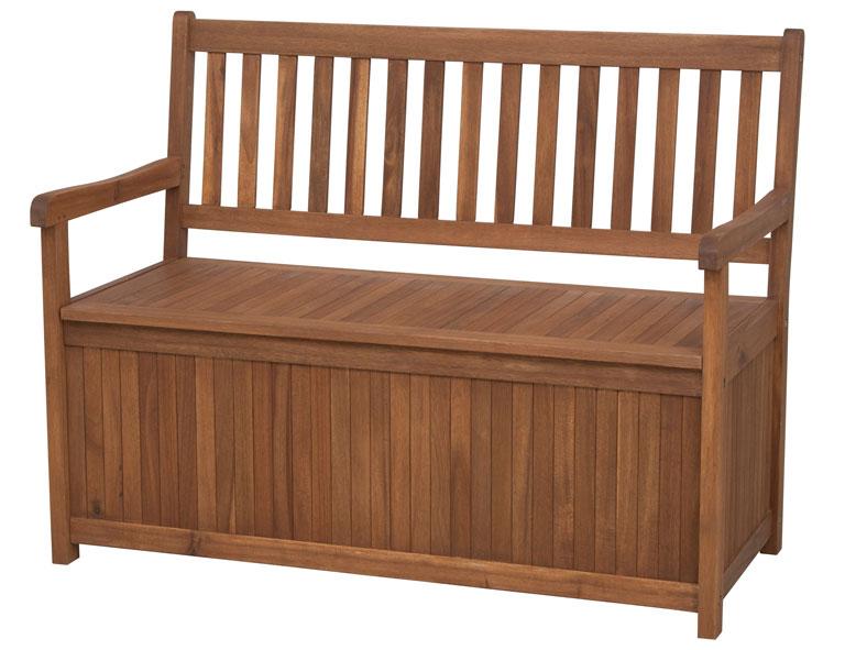 Siena Garden Gartenbank / Auflagenbox Melton 2-Sitzer Akazienholz Bild 1