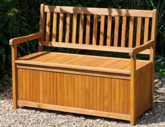 Siena Garden Gartenbank / Auflagenbox Melton 2-Sitzer Akazienholz Bild 3