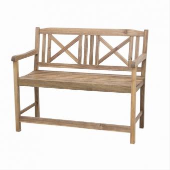 Siena Garden Gartenbank / Holzbank 2-Sitzer Serena Akazie 120x61,5cm Bild 1
