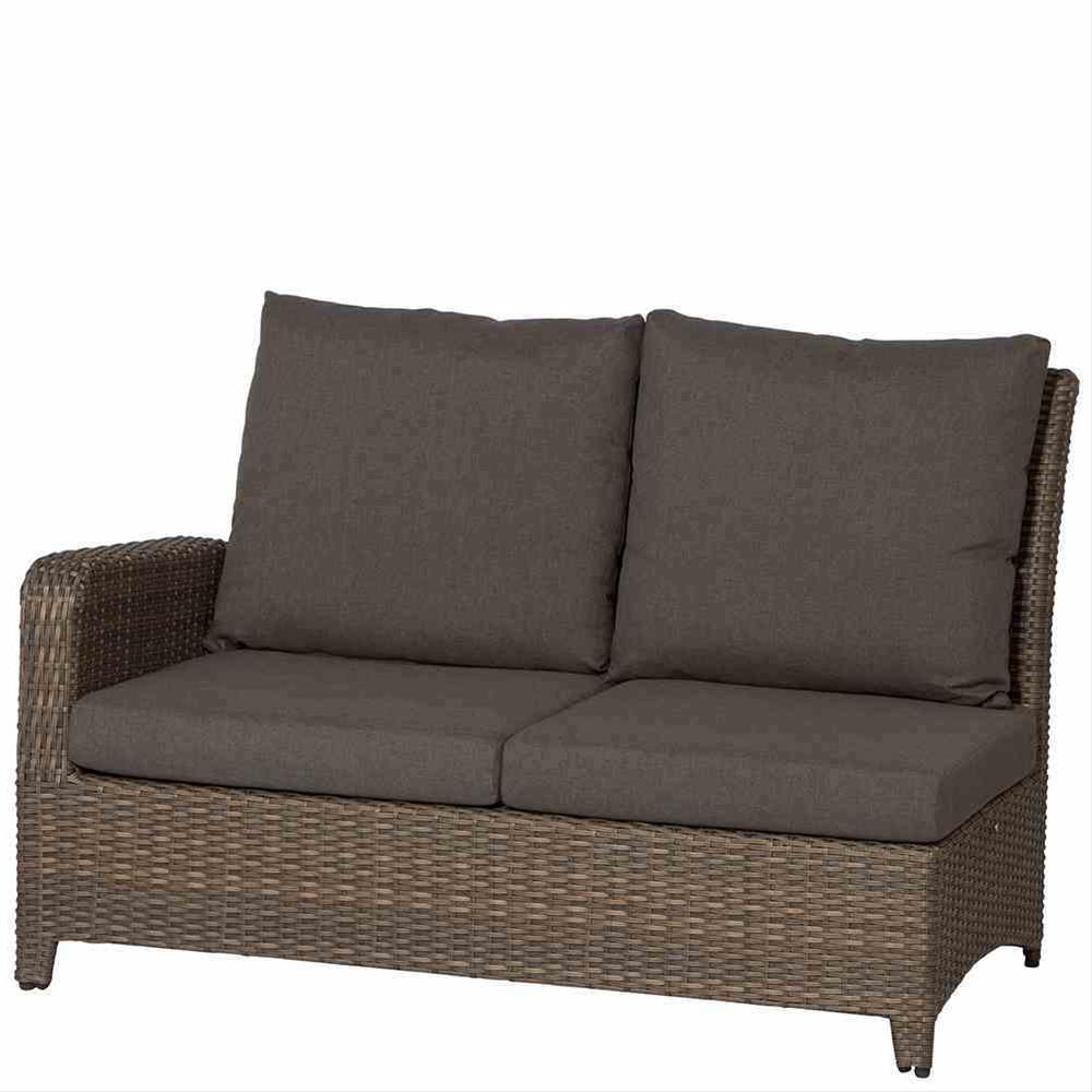siena garden lounge sofa 2er sofa links girona polyrattan bronze bei. Black Bedroom Furniture Sets. Home Design Ideas