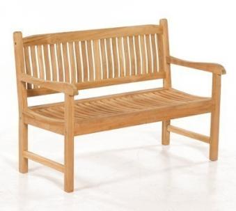 Sonnenpartner Gartenbank 2 Sitzer Buckingham Teak Bild 1