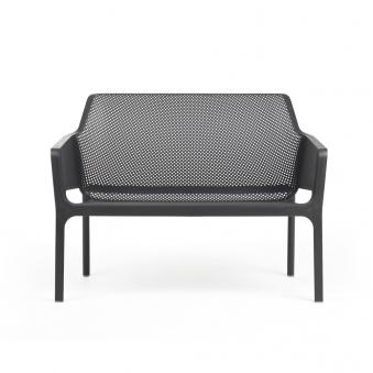 Nardi Gartenbank / 2-Sitzer Net Bench stapelbar Kunststoff antracite Bild 1