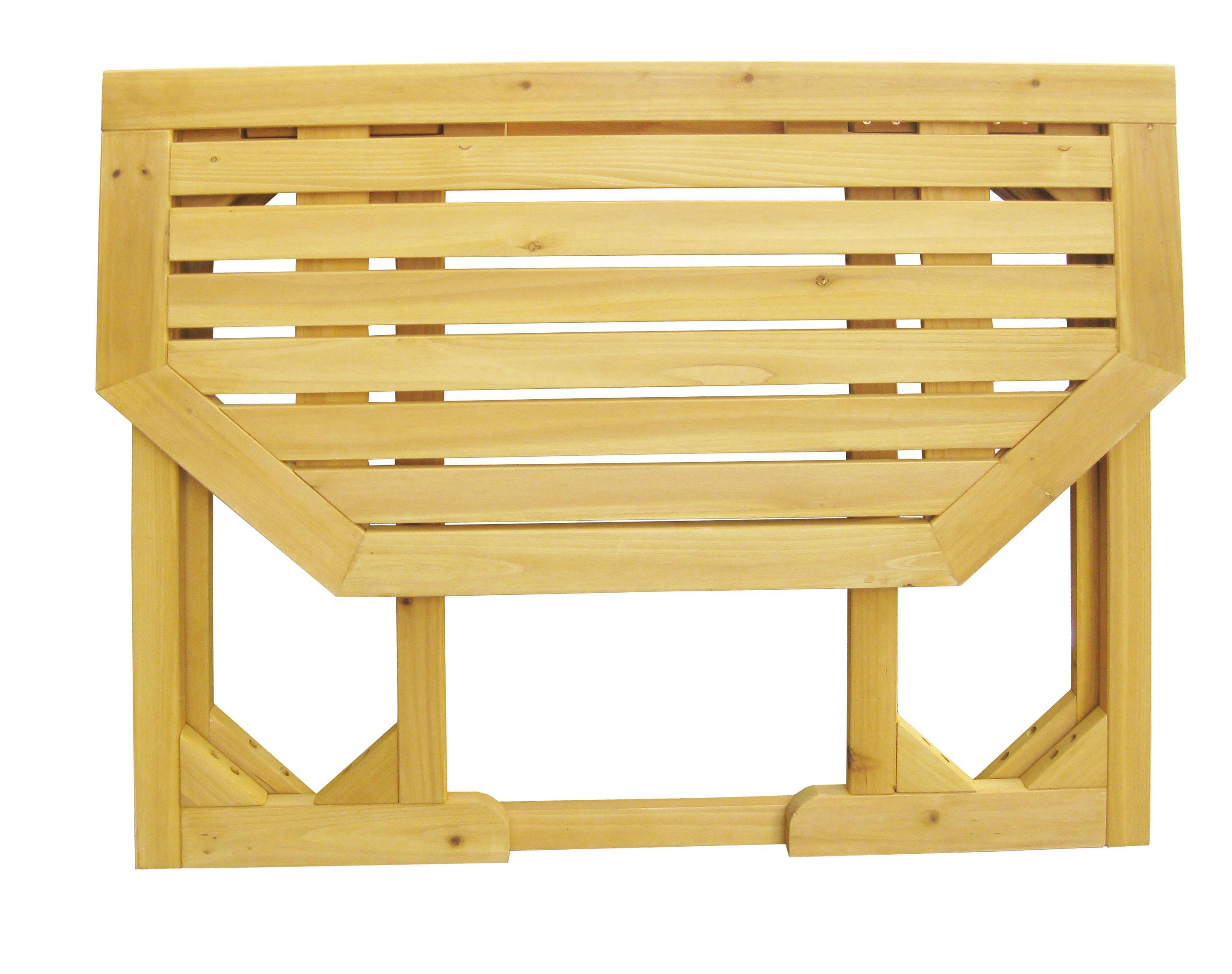 gartentisch balkontisch habau klappbar kiefer 90x50cm bei. Black Bedroom Furniture Sets. Home Design Ideas