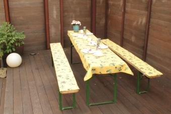 Tischdecke für Festzelt / Biertisch beo 100x240cm M833 Bild 2