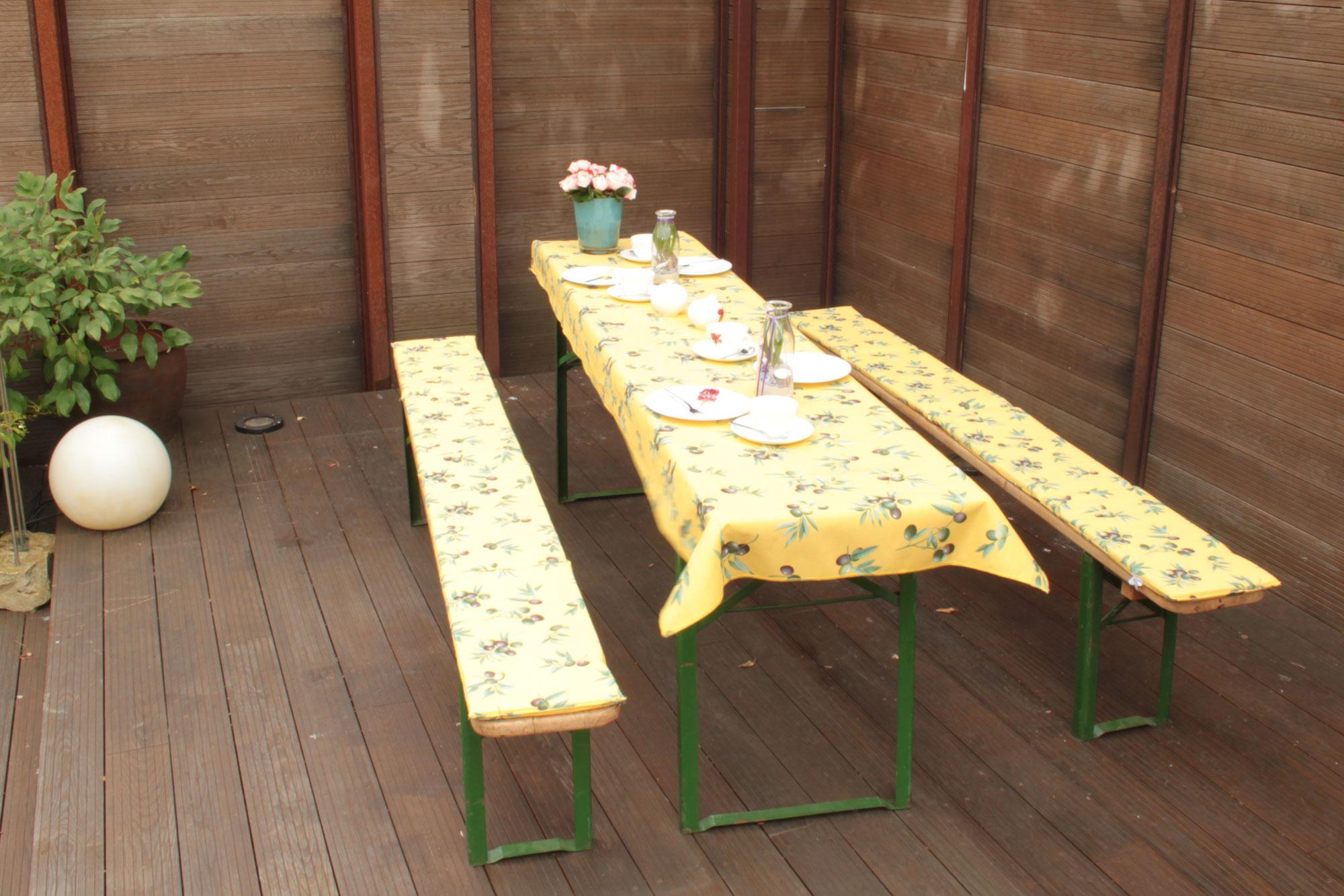 Tischdecke für Festzelt / Biertisch beo 80x240cm M833 Bild 2